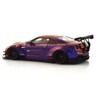 PRÉ VENDA PC Club 1:64 Nissan GT-R 2.0 LB★PERFORMANCE - Camaleão Roxo