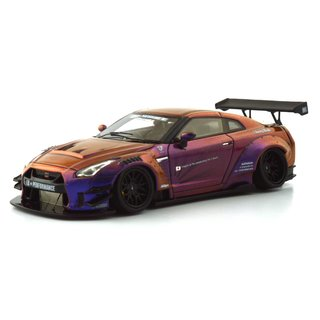 PRÉ VENDA PC Club 1:64 Nissan GT-R 2.0 LB★PERFORMANCE - Camaleão Roxo - buy online