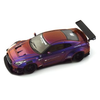 Image of PRÉ VENDA PC Club 1:64 Nissan GT-R 2.0 LB★PERFORMANCE - Camaleão Roxo