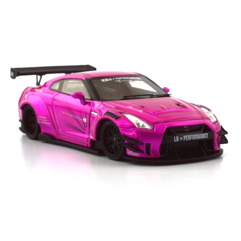 PRÉ VENDA PC Club 1:64 Nissan GT-R 2.0 LB★PERFORMANCE - Flash Pink