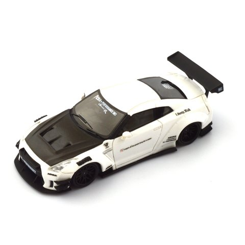 PRÉ VENDA PC Club 1:64 Nissan GT-R 2.0 LB★PERFORMANCE - Branco/Fibra de Carbono