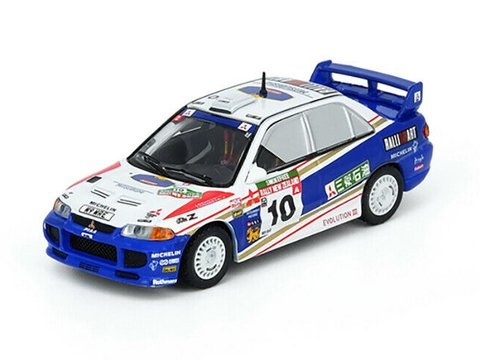 PRÉ VENDA Inno64 1:64 Mitsubishi Lancer Evo III #10 New Zealand Rally 1995