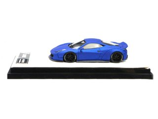 Timothy & Pierre 1:64 Ferrari 458 Ducktail Liberty Walk Azul Fosco