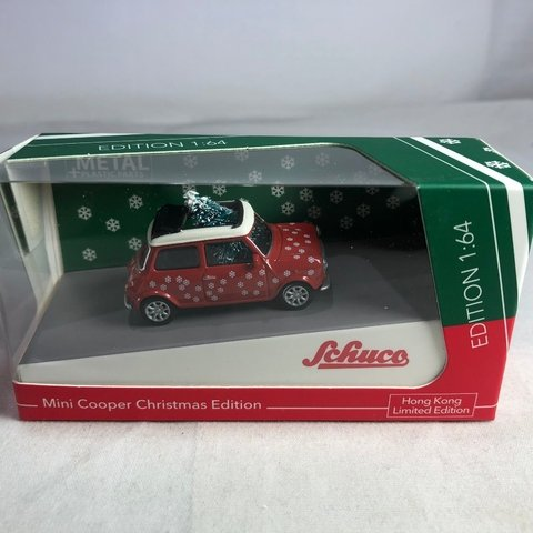 PRÉ VENDA Schuco 1:64 Mini Cooper Christmas Edition HK Exclusive