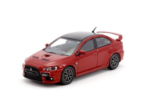 PRÉ VENDA Tarmac 1:64 Mitsubishi Evo X Final Edition - Rally Red