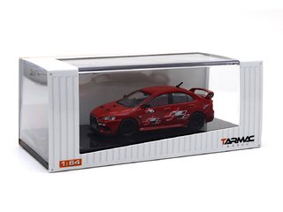 Tarmac 1:64 Mitsubishi Lancer Evo X Ralliart - Red - Curitiba Customs
