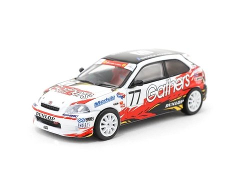 PRÉ VENDA Tarmac 1:64 Honda Civic Type R EK9 Super Taikyu 1998 ST-4 Champion Gathers livery #77