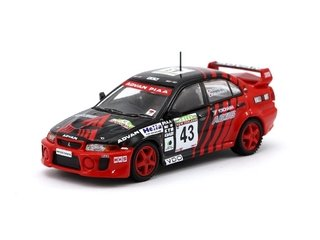 PRÉ VENDA Tarmac 1:64 Mitsubishi Lancer Evolution V New Zealand Rally 1999 #43