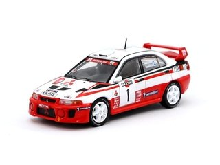 PRÉ VENDA Tarmac 1:64 Mitsubishi Lancer Evolution V Sanremo Rally 1998 #1 Winner