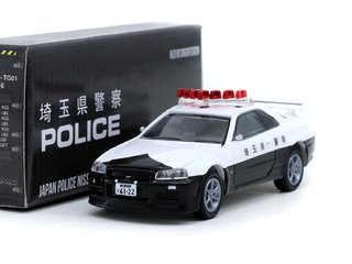 PRÉ VENDA 1:64 Tarmac/Greenlight Nissan GT-R R34 Police Japan