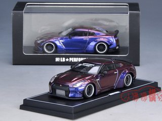 PRÉ VENDA LB WORKS 1:64 Nissan GT-R R35 Duck Tail Chameleon Purple