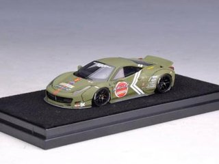 PRÉ VENDA Resina 1:64 Ferrari 458 Zero Fighter Duck Tail