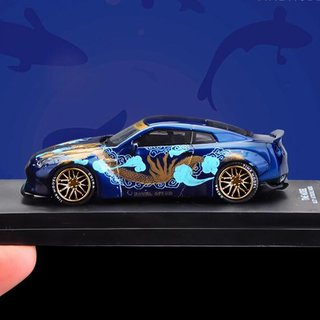 PRÉ VENDA Time Model 1:64 Nissan GT-R Royal Ocean Ducktail