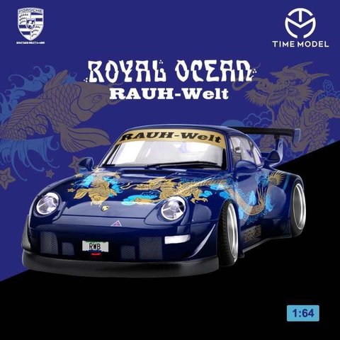 PRÉ VENDA Time Model 1:64 Porsche RWB 993 Royal Ocean