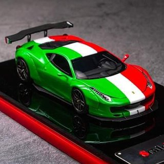 PRÉ VENDA Scale Mini 1:64 Ferrari 458 Liberty Walk Tricolore