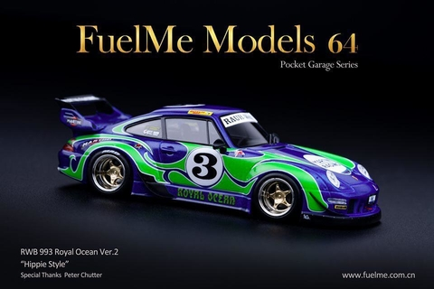 Sinal 100% Fuel Me 1:64 RWB 993 Royal Ocean