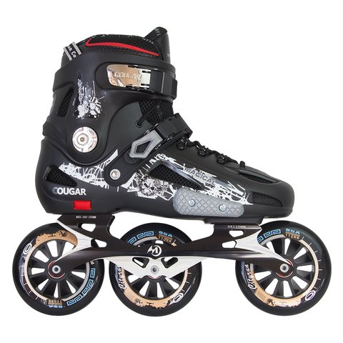 Patins Cougar Destroyer com base de 3 rodas de 110mm