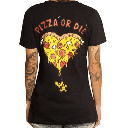 camiseta pizza or die