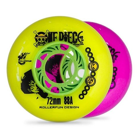 Rodas Roller Fun - One Piece 88A - 4un