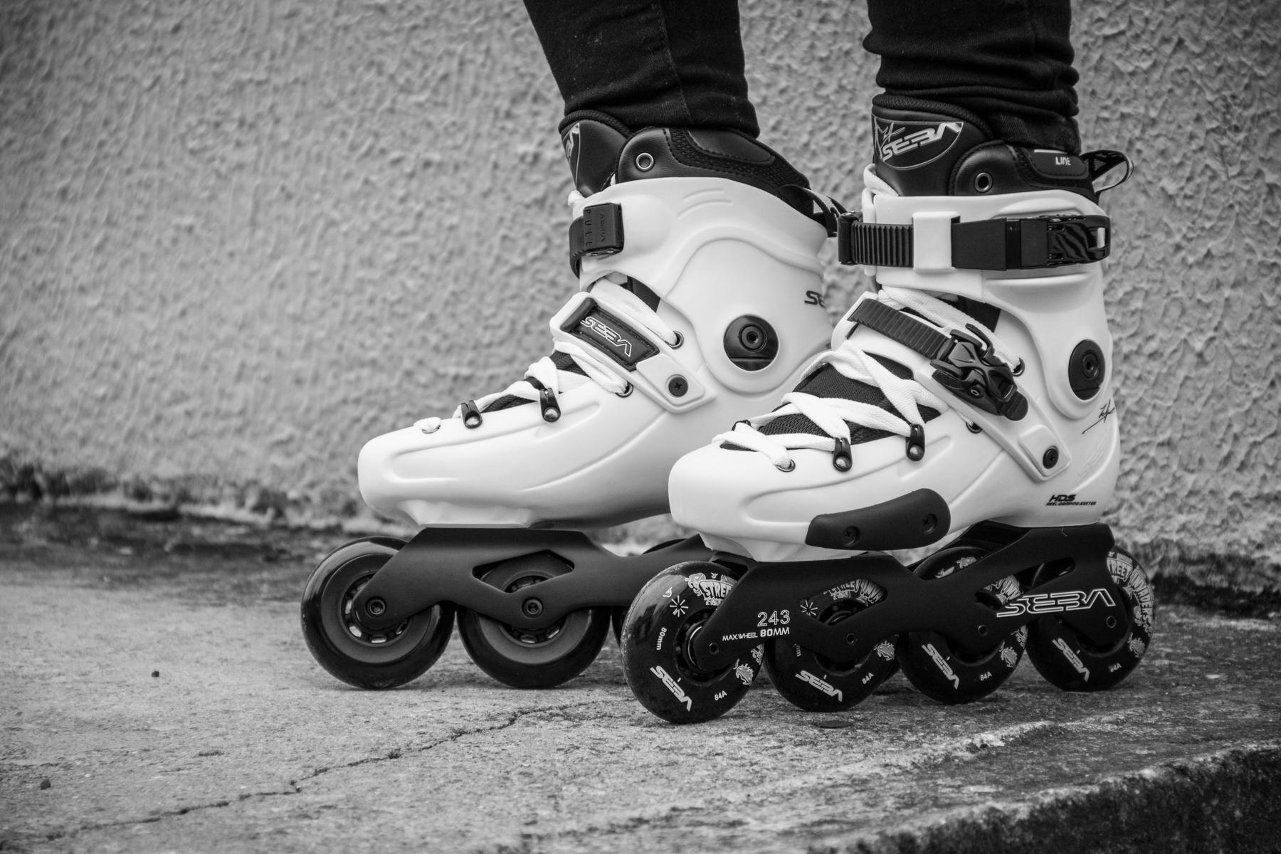 Patins Seba FR1 Branco modelo para Urban, Freeride e Freestyle