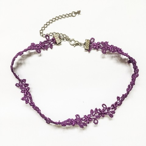 Choker Renda Purple