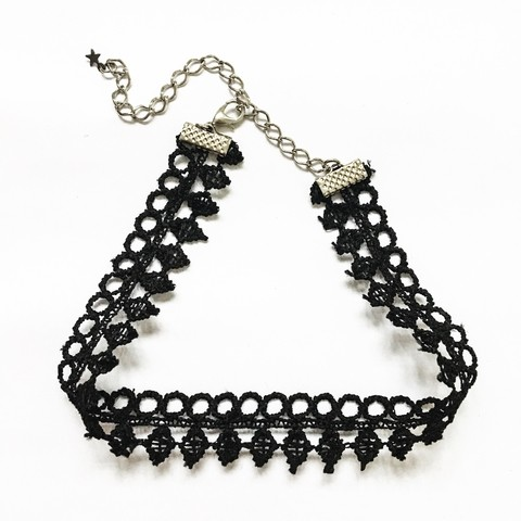 Choker Renda Black