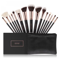 DOCOLOR - 15 Pieces Rose Gold Makeup Brushes Set - DC1501 . - comprar online