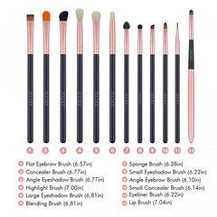 DOCOLOR - 12 Pieces Eye Makeup Brush Set - DC1201 - Vanity Shop