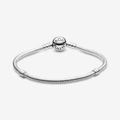 Pandora Original - Moments Sparkling Heart Clasp Snake Chain Bracelet - Vanity Shop