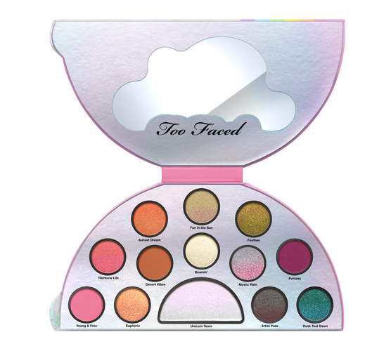 TOO FACED - LIFE'S A FESTIVAL EYESHADOW PALETTE - PEACE, LOVE & UNICORNS - tienda online