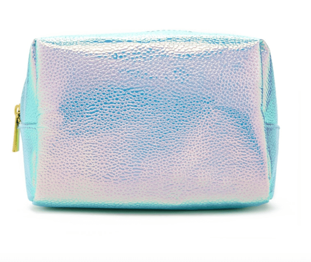 FOREVER 21 Holographic Pebbled Makeup Bag Seafoam/olive - tienda online