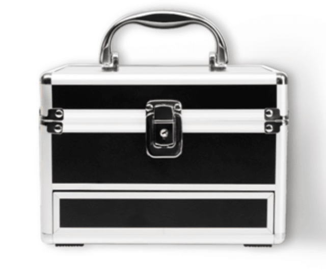 NYX TRAIN CASE MALETIN APERTURA PLEGABLE - EXCLUSIVO CON LLAVE - comprar online