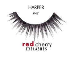 RED CHERRY EYELASHES - 100% HUMAN HAIR - PESTAÑAS en internet