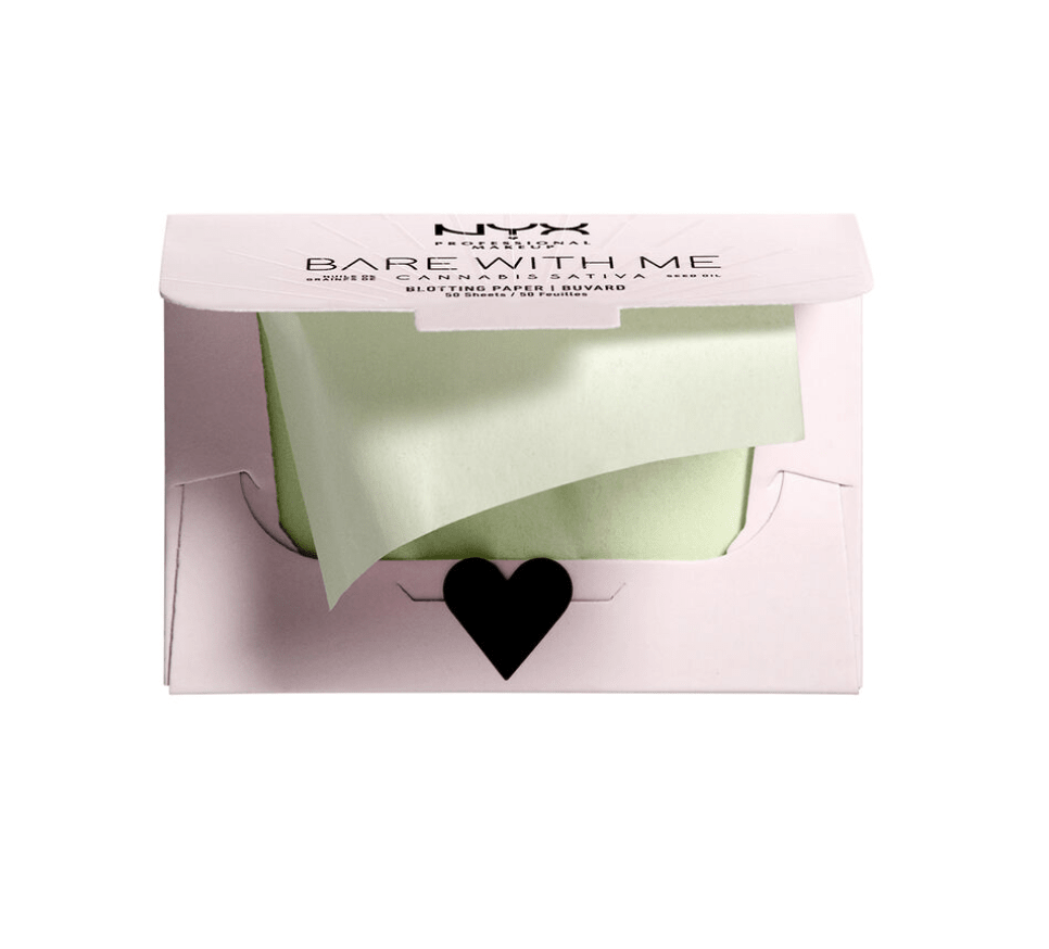 NYX - BARE WITH ME CANNABIS SATIVA SEED OIL BLOTTING PAPER