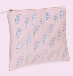 FOREVER 21 - Pebbled Iridescent Bolt Clutch