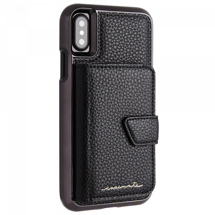 CASE-MATE -  Compact Mirror Case for the iPhone X / XS - Black