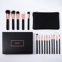 DOCOLOR - 15 Pieces Rose Gold Makeup Brushes Set - DC1501 .
