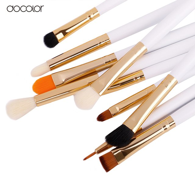 DOCOLOR 10 Pieces Eye Makeup Brush Set - DB1004 - comprar online