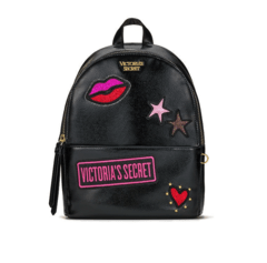 VICTORIA'S SECRET - PATCH SMALL CITY BLACK BACKPACK