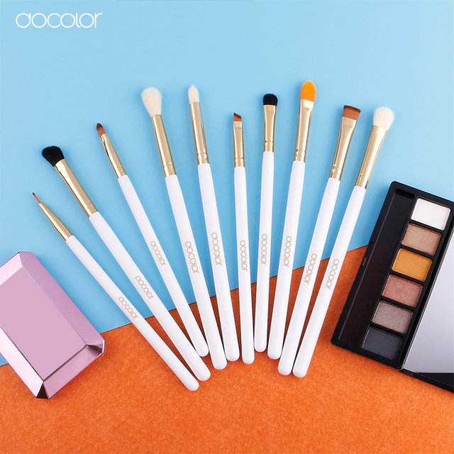 DOCOLOR 10 Pieces Eye Makeup Brush Set - DB1004 - Vanity Shop