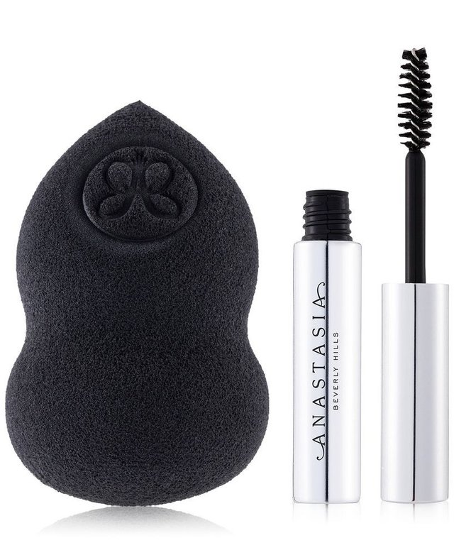 ANASTASIA BEVERLY HILLS - COSMETIC SPONGE + CLEAR BROW GEL TRAVEL SIZE SET