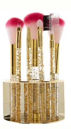 JUICY COUTURE -  Juicy 8-Piece Brush Set with Stand Tri Coastal Design - comprar online