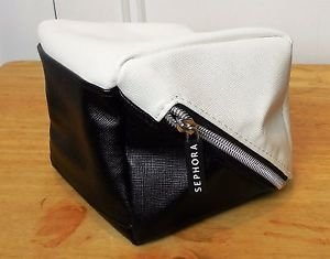 SEPHORA - BLACK & WHITE SQUARE COSMETIC BAG en internet