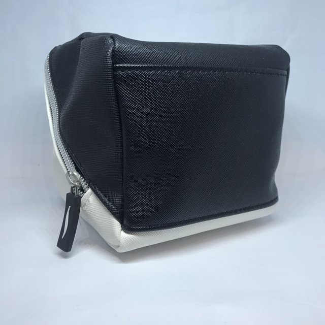 SEPHORA - BLACK & WHITE SQUARE COSMETIC BAG - Vanity Shop