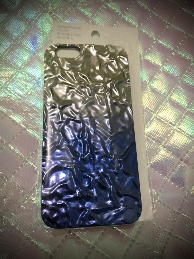 H&M - IPHONE 6 / 6S COVER CASE blue/silver