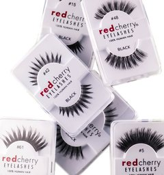 RED CHERRY EYELASHES - 100% HUMAN HAIR - PESTAÑAS