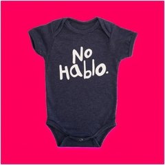 BODY BEBE DIVERTIDO NO HABLO - AZUL MESCLA