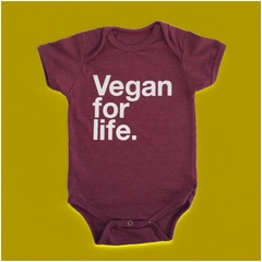 KIT TAL PAI TAL FILHO CAMISETA + BODY DE BEBE - VEGAN FOR LIFE - VEGANO - Honey Peppers
