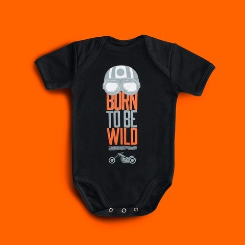 BODY BEBE DIVERTIDO ROCK - BORN TO BE WILD