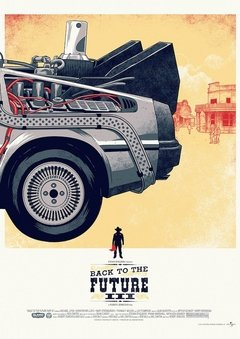 POSTER BACK TO THE FUTURE TRILOGY - DELOREAN - Honey Peppers